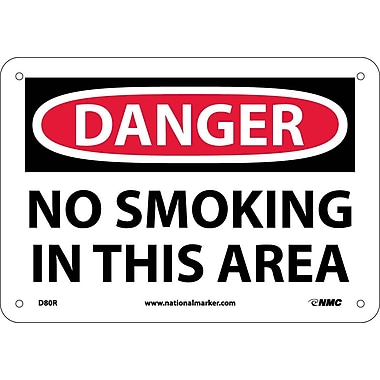 Danger, No Smoking In This Area, 7X10, Rigid Plastic