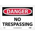 Danger, No Tresspassing, 7X10, .040 Aluminum