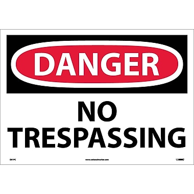Danger, No Trespassing, 14X20, Adhesive Vinyl