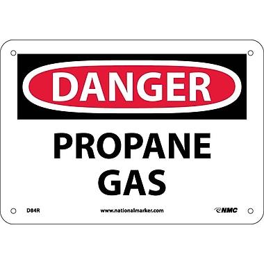 Danger, Propane Gas, 7X10, Rigid Plastic