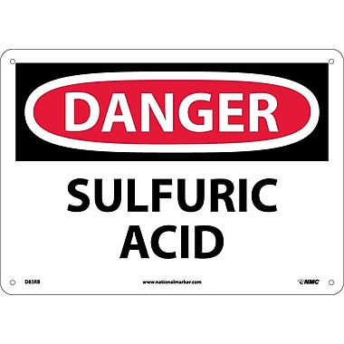 Danger, Sulfuric Acid, 10X14, Rigid Plastic