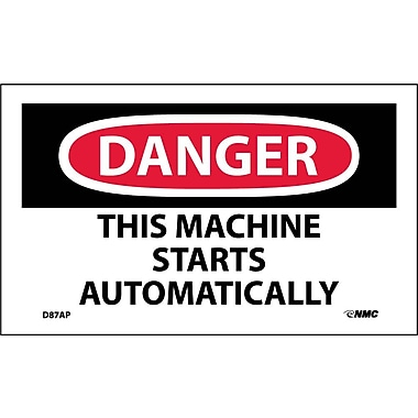 Labels Danger, This Machine Starts Automatically, 3