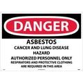 Danger, Asbestos Cancer And Lung Disease Hazard, 20X28, .040 Aluminum