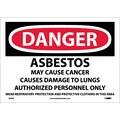 Danger, Asbestos Cancer And Lung Disease Hazard, 10X14, Adhesive Vinyl