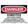 Danger, Asbestos Cancer And Lung Disease Hazard, 14X20, Adhesive Vinyl