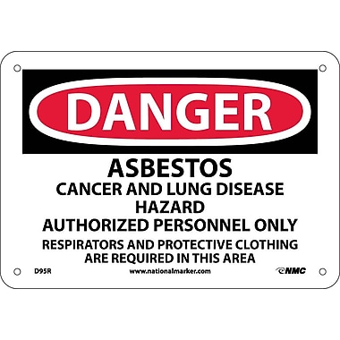 Danger, Asbestos Cancer And Lung Disease Hazard, 7