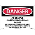 Danger, Asbestos Cancer And Lung Disease Hazard, 10X14, Rigid Plastic