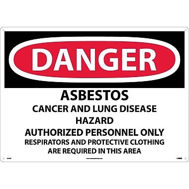 Danger, Asbestos Cancer And Lung Disease Hazard, 20X28, Rigid Plastic