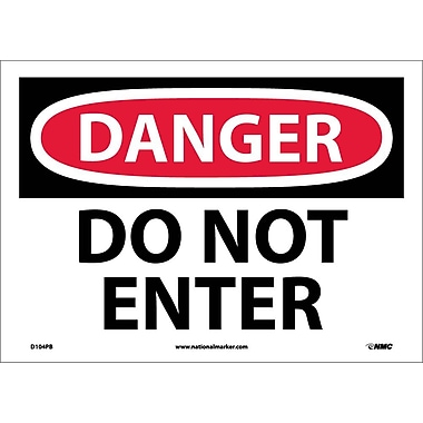 Danger, Do Not Enter, 10X14, Adhesive Vinyl