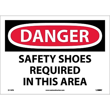 Danger, Safety Shoes Required In This Area, 10