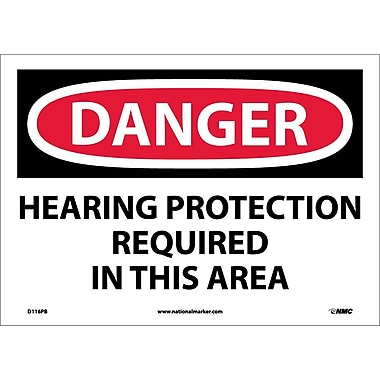 Danger, Hearing Protection Required In This Area, 10