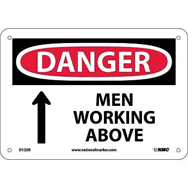 Danger, Men Working Above, 7X10, Rigid Plastic
