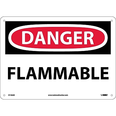 Danger, Flammable, 10X14, .040 Aluminum
