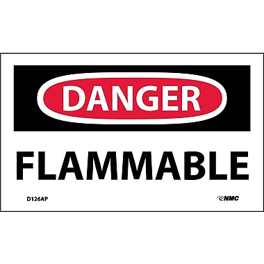 Labels Danger, Flammable, 3