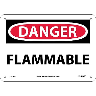 Danger, Flammable, 7X10, Rigid Plastic