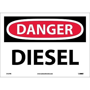 Danger, Diesel, 10X14, Adhesive Vinyl