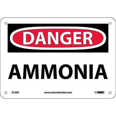 Danger, Ammonia, 7X10, Rigid Plastic