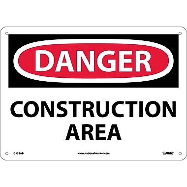 Danger, Construction Area, 10X14, .040 Aluminum