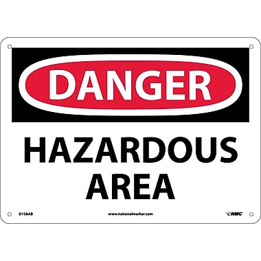 Danger, Hazardous Area, 10X14, .040 Aluminum