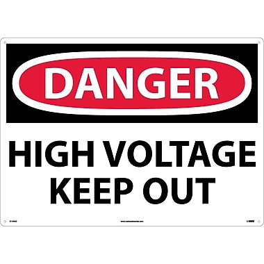 Danger, High Voltage Keep Out, 20