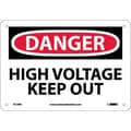 Danger, High Voltage Keep Out, 7X10, Rigid Plastic