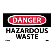 Labels - Danger, Hazardous Waste, 3X5, Adhesive Vinyl, 5/Pk