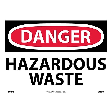 Danger, Hazardous Waste, 10X14, Adhesive Vinyl