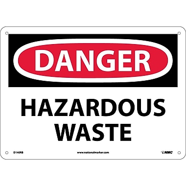Danger, Hazardous Waste, 10X14, Rigid Plastic