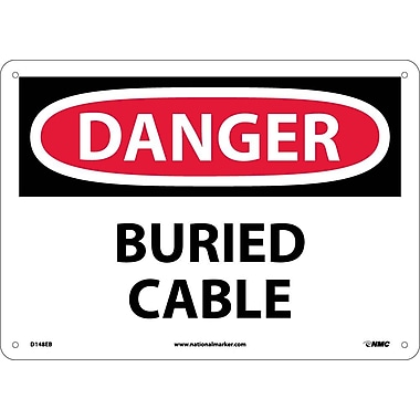 Danger, Buried Cable, 10X14, Fiberglass