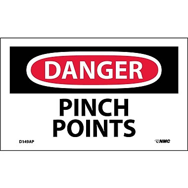 Labels Danger, Pinch Points, 3