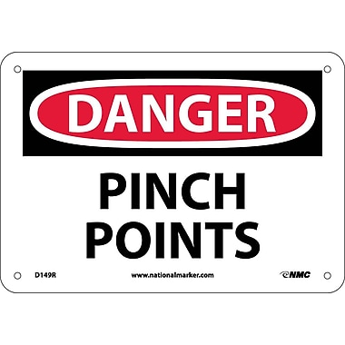Danger, Pinch Points, 7X10, Rigid Plastic
