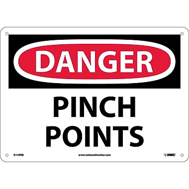 Danger, Pinch Points, 10X14, Rigid Plastic