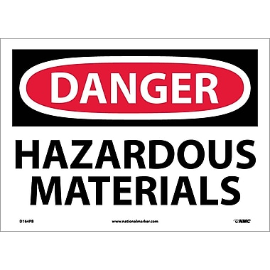 Danger, Hazardous Materials, 10X14, Adhesive Vinyl