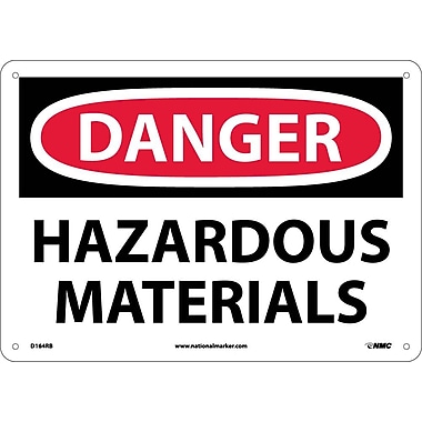 Danger, Hazardous Materials, 10X14, Rigid Plastic