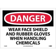 Danger, Wear Face Shield And Rubber Gloves When. . ., 10X14, Adhesive Vinyl