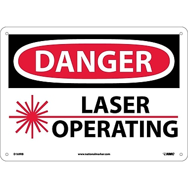 Danger, Laser Operating, 10X14, Rigid Plastic