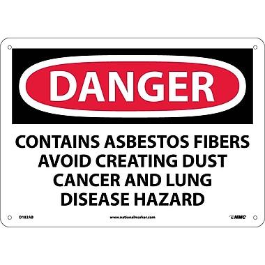 Danger, Contains Asbestos Fibers Avoid. . ., 10X14, .040 Aluminum