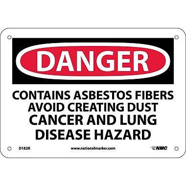 Danger, Contains Asbestos Fibers Avoid. . ., 7X10, Rigid Plastic