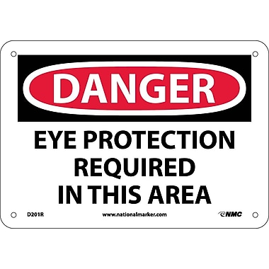 Danger, Eye Protection Required In This Area, 7
