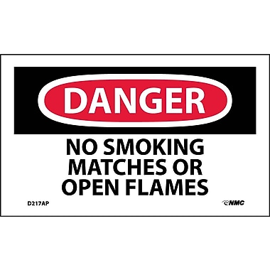 Labels Danger, No Smoking Matches Or Open Flame, 3