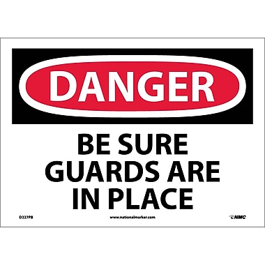Danger, Be Sure Guards Are In Place, 10