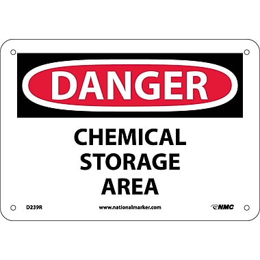 Danger, Chemical Storage Area, 7X10, Rigid Plastic