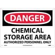 Danger, Chemical Storage Area Authorized Personnel, 10X14, .040 Aluminum