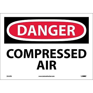 Danger, Compressed Air, 10X14, Adhesive Vinyl