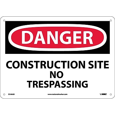 Danger, Construction Site No Trespassing, 10