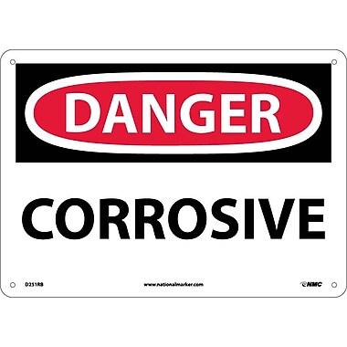 Danger, Corrosive, 10X14, Rigid Plastic