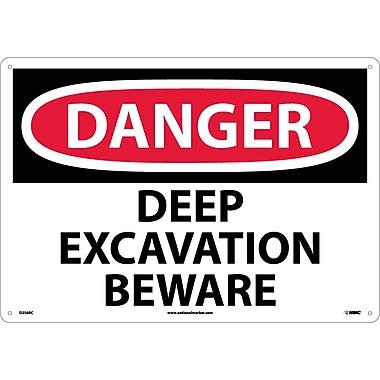 Danger Deep Excavation Beware, 14X20, Rigid Plastic