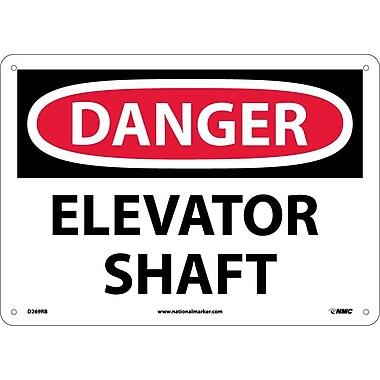 Danger, Elevator Shaft, 10X14, Rigid Plastic