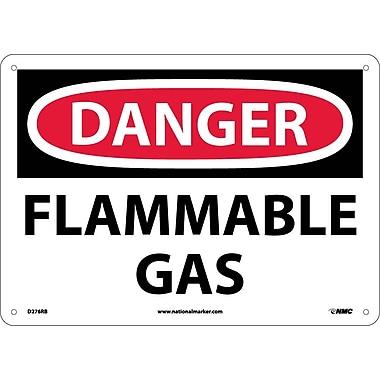 Danger, Flammable Gas, 10X14, Rigid Plastic