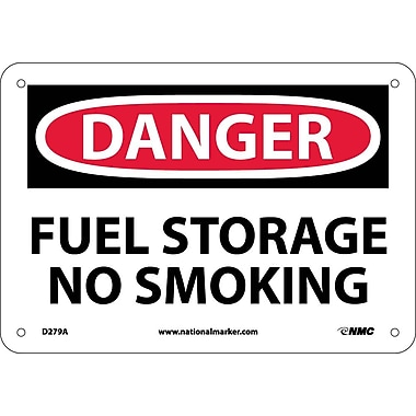 Danger, Fuel Storage No Smoking, 7X10, .040 Aluminum